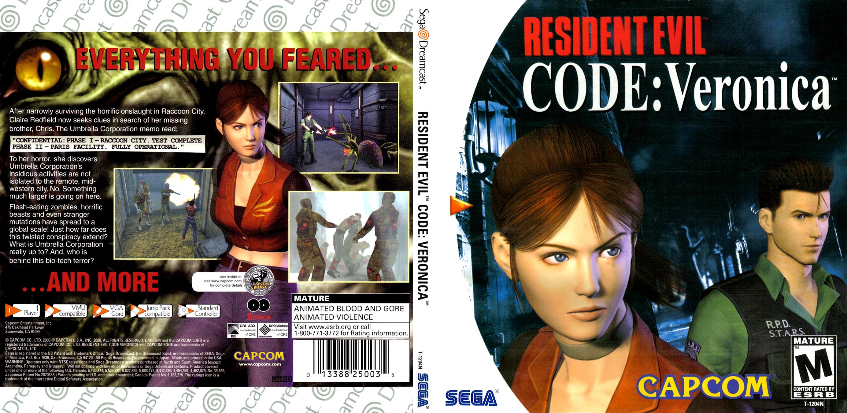 Resident Evil - Code - Veronica (USA) ISO < DC ISOs | Emuparadise